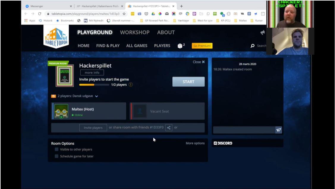 Video med information om hvordan Hackerspillet spilles online