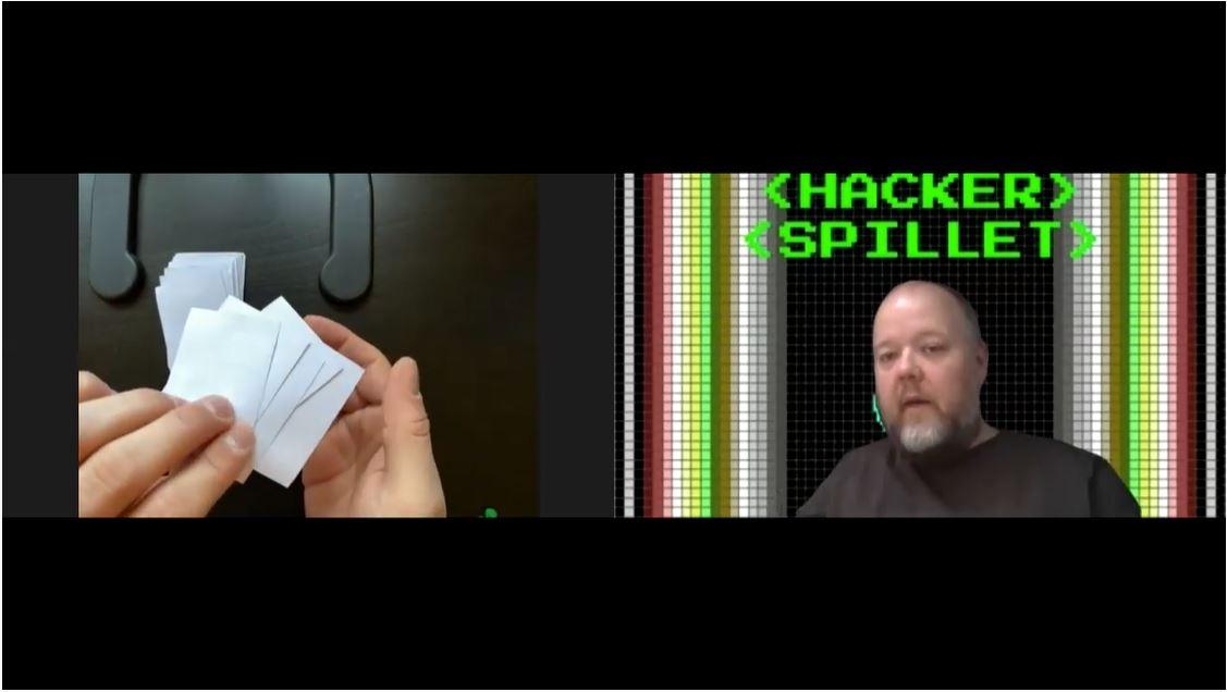 Video om hvordan Hackerspillet spilles