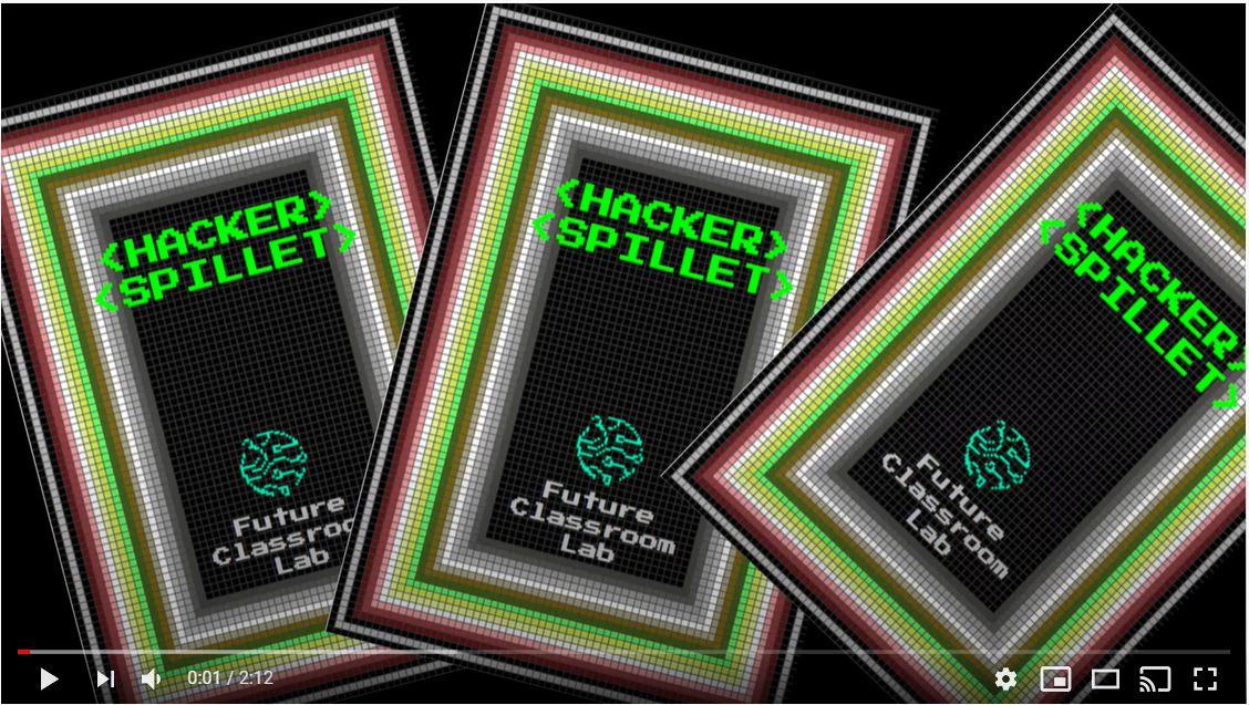 Billede af tre spillekort fra Hackerspillet