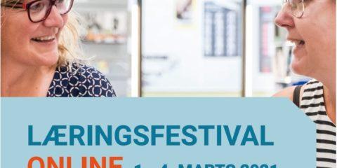 Reklame for Danmarks Læringsfestival og Skolemessen som går online i marts 2021
