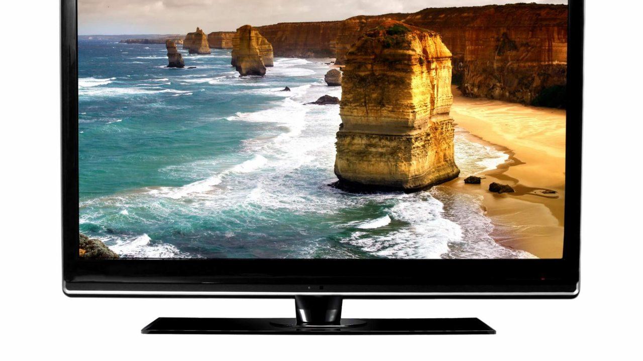 Tv med naturbilleder